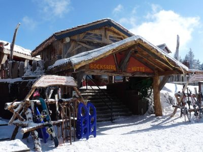 Winterliche Bocksberghütte